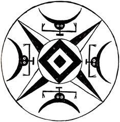 """The Sign of the Horns: Protection against the 'Evil Eye' and Black Magic. Looking here, the evil eye stares into the eye of God, and the devil is balked in all directions by the 'horns' of the Earth Star"""