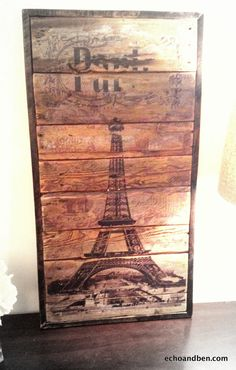 Eiffel Tower Paris vintage wooden chic