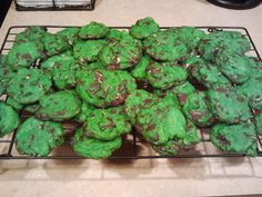 Mint Chocolate Chip Cookies for St. Patrick's Day!
