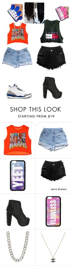 """Untitled #209"" by atikaa ❤ liked on Polyvore featuring Tommy Hilfiger, Jeffrey Campbell, 14th & Union and Chanel"