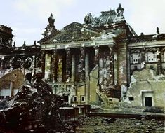 The Reichstag after the Battle of Berlin 1945