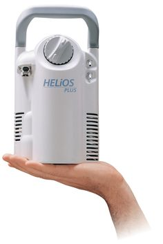 HELiOS Personal Oxygen Tank:  This magnificent oxygen tank is small, portable and lasts longer than other portable oxygen systems on the market. It makes it easy and affordable for patients requiring O2 treatment at home, or on the move!