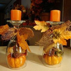 Jesenné lístie je lacná a pritom dokonalá dekorácia. Takto si prinesiete jeseň až k vám domov! - sikovnik.sk Diy Fall Wreath, Fall Diy, Fall Wreaths, Thanksgiving Decorations Outdoor, Fall Decorations, Thanksgiving Parties, Diy Decoration, Thanksgiving Table, Table Centerpieces For Home