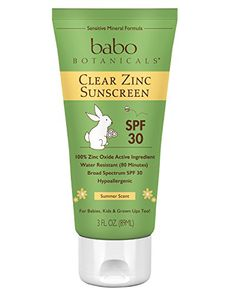 Babo Botanicals SPF 30 Clear Zinc Lotion  3 Ounces Best Natural Mineral Sunscreen NonNano Sensitive * Click on the image for additional details.-It is an affiliate link to Amazon.