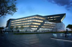 Library & Learning Center in Vienna,Austria, by Zaha Hadid Architects