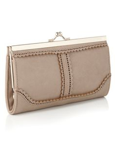 purse wallet taupe lace. Oh so practical but still with a touch of elegance. This purse is perfect for the busy shopper whose worst habit is stashing old receipts.