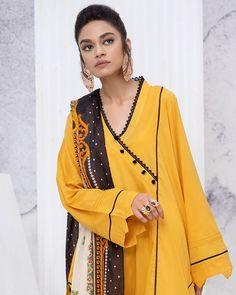 Girls Frock Design, Long Dress Design, Dress Neck Designs, Stylish Dresses For Girls, Frocks For Girls, Casual Dresses, Fashion Dresses, Pakistani Fancy Dresses, Pakistani Dress Design