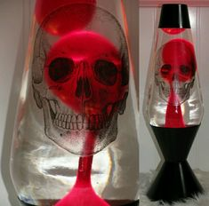 Skull lava lamp, Love it! Would go great in my skull room Skull Decor, Skull Art, Goth Home Decor, Bild Tattoos, Gothic House, Gothic Room, Skull And Bones, Macabre, Dark Art