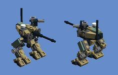 Mech built from Legos For the game; Mobile Frame Zero. Dyson - Walking Artillery. Designed by: Tetrajak