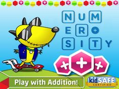 FREE app (reg 1.99) Aimed at 6 to 8 year olds this educational math game will help kids review concepts and improve their numerical skills whilst having fun!