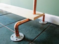 Copper Pipe Clothing Rack Industrial Copper by TheBradfordEdge