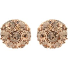 OASIS Rose Gold Facet Stud Earrings ($7.73) ❤ liked on Polyvore featuring jewelry, earrings, copper, disc stud earrings, peach earrings, studded jewelry, rose gold jewelry and pink gold earrings