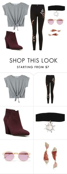 """""""Untitled #3"""" by cally-gem ❤ liked on Polyvore featuring Topshop, Franco Sarto, Sheriff&Cherry and Betsey Johnson"""