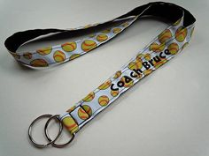 Softball Lanyard PERSONALIZED With NAME and by aPageofCreativity, $13.50