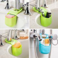 Fashion Kitchen Tools Sink Bathroom Sponge Holder Hanging Case Organizer Storage Strainer HG-2078