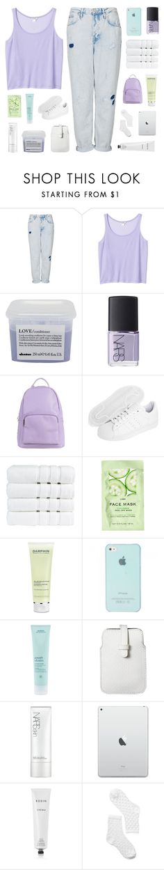 """""""our coats both smell of smoke. ☆"""" by i-get-lost-sometimes ❤ liked on Polyvore featuring Topshop, Monki, Davines, NARS Cosmetics, SPURR, adidas Originals, Christy, H&M, Darphin and Aveda"""