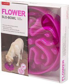 Dog Games Flower Slo-Bowl Interactive Dog Feeder, Purple slow feeder