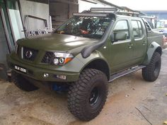 Nissan Frontier Lifted 4x4 Trucks example http://pistoncars.com/nissan-frontier-lifted-4x4-trucks-3265