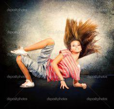 hip hop dancers pictures   Dance. Hip-Hop Dancer. Dancing Teenage Girl   Stock Photo © Anna ...