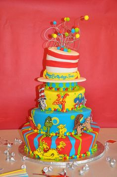 Tiered Seuss Cake