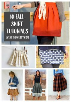 10 Fall Skirt Tutorials {Free Patterns} | Everything Etsy | Bloglovin'