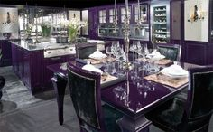 purple kitchen / dining room