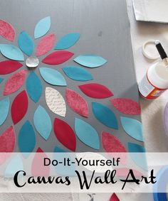 50 diy wall art tutorials pinterest flower canvas diy paper and diy wall art solutioingenieria Choice Image