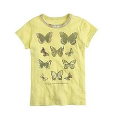 Girls' butterfly collection tee