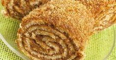 Распрекрасный наш рулет ешь на завтрак и обед! Чтобы приготовить рулет с грецкими орехами и медом нам понадобится: Для теста: — 2 стакана муки — 0, 5 стакана сахара — 50-100 грамм сливочного масла или маргарина — 1 яйцо — 4 ст. ложки густой сметаны — ¼ ч. л. соли — ¼ ч. л. соды …