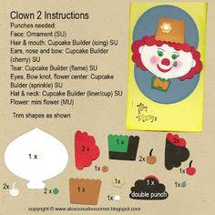 Alex's Creative Corner: Mrs Clown Punch art tag instructions