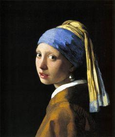 Jan VERMEER A Menina do Turbante/ Menina do Brinco de Pérola, 1665 Óleo sobre tela, 45 x 40 cm Mauritshuis, Haia