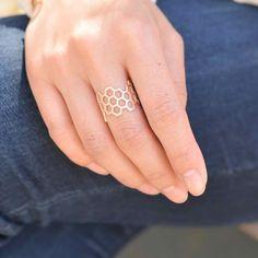 Majolie  - Ruche Rose Gold Ring -   - 1