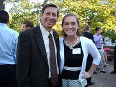President Hodge and Panhellenic VP of Community Service Molly Kenney at President and Mrs. Hodge's reception for Greek Leaders.