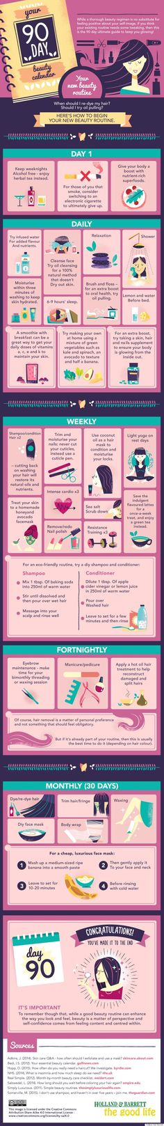 your 90 day beauty calendar