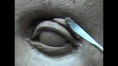 Sculpting open eyes in clay. Sculpting tutorial.