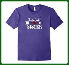 Mens Baseball Sister Tshirt For the Proud Baseball Sister 2XL Purple - Sports shirts (*Amazon Partner-Link)