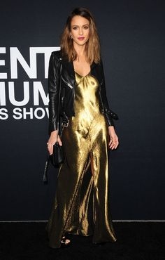 Jessica Alba in Saint Laurent