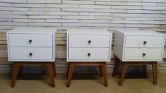 Retro style side tables from Eco furniture design