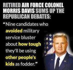 OMG FINALLY SOMEBODY SAID IT - lets try this, if you want a war then the first FRONT LINE feet on the ground in the lowest military position is ALL the children of politicians who voted for it.