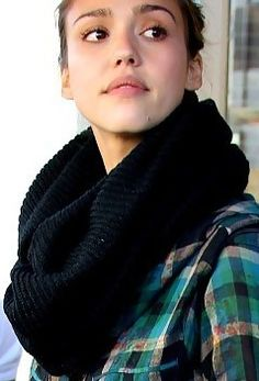 Love chunky scarves in fall and winter.