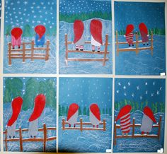 Christmas Art, Winter Christmas, Winter Art Projects, Deck The Halls, Primary School, Art For Kids, Snowman, Red And White, Arts And Crafts