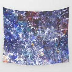 Available in three distinct sizes, our Wall Tapestries are made of 100% lightweight polyester with hand-sewn finished edges. Featuring vivid colors and crisp lines, these highly unique and versatile tapestries are durable enough for both indoor and outdoor use. Machine washable for outdoor enthusiasts, with cold water on gentle cycle using mild detergent - tumble dry with low heat. #galaxy #space #galaxypattern #home #galaxyart #painting #pourpainting #galaxypainting