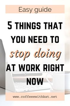 Here are the 5 things that you should absolutely avoid doing at work. If you are looking for career advice, work tips, or how to advance in your career, start by not doing these things at work. This will help you get promoted at work, earn the respect of your colleagues, and be confident at your job. Just stop procrastinating at work, gossiping at work and a few other things listed in this article. Job Career, Career Change, Career Advice, Business Motivation, Business Advice, Online Business, Self Care Worksheets, Self Care Activities, Relationship Advice Quotes