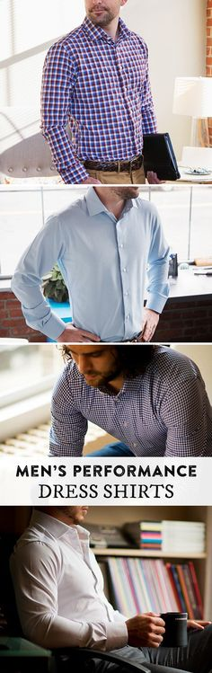 Button-downs for athletic builds. Performance material wicks sweat, controls odor, and resists wrinkles—all while looking fit for the office.