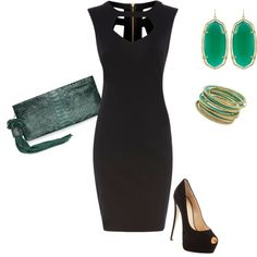 Black dress combination