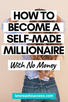Want to make real money and achieve financial independence? This is the guide for you. Check out what it takes to become a self-made millionaire with no money: Make Real Money, Make Money Fast, Make Money Blogging, Make Money From Home, Money Tips, Self Made Millionaire, Become A Millionaire, Online Earning, Earn Money Online