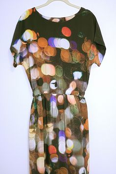 Short-sleeved maxi dress in after party print from Ermie