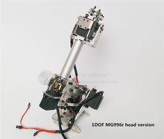 The newest version 5DOF / 6DOF CNC aluminum robotic arm frame ABB industrial robot model MG996r servos unassembled #Affiliate