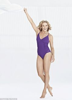 Gabby Logan shows off her slim figure in a swimsuit and reveals she'd love to see David Beckham on Splash! Gabby Logan, Sports Presenters, Uk Tv, Thing 1, David Beckham, Celebs, Celebrities, Swimsuits, Swimwear