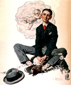 Norman Rockwell Paintings Gallery in Chronological Order Norman Rockwell Prints, Norman Rockwell Paintings, Illustrations Vintage, Illustration Art, Peintures Norman Rockwell, The Saturdays, Painting Gallery, Famous Artists, Caricatures
